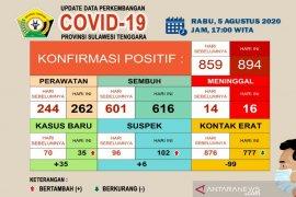 Di Sultra, pasien sembuh COVID-19 bertambah jadi 616 orang