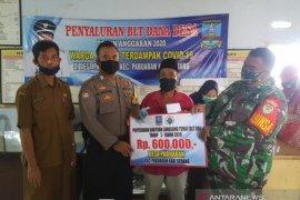 Polri dan TNI kawal penyaluran BLT di Pabuaran Serang