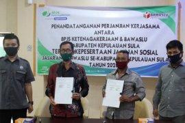Lindungi Pengawas ad Hoc, Bawaslu Kepulauan Sula teken MoU dengan BPJAMSOSTEK