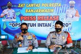 Selama Operasi Patuh Polresta Banjarmasin tilang 2.082 pengendara