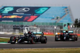 Duo Mercedes puncaki sesi latihan terakhir GP hari jadi F1 ke-70