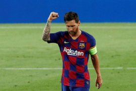 Messi janji tetap beri 100 persen untuk Barcelona hingga kontraknya habis