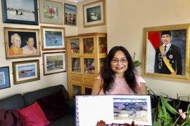 Warga Indonesia melukis anjing laut persembahkan untuk Ratu Inggris