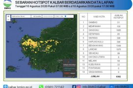 Siap-siap kabut asap, sebanyak 6.382 'hotspot' terdeteksi di Kalbar