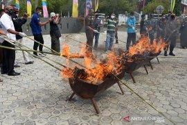 Kejari Aceh Besar musnahkan barang bukti kejahatan