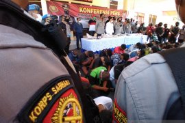 Jadi tersangka, 45 oknum anggota PSHT Situbondo terancam hukuman delapan tahun penjara