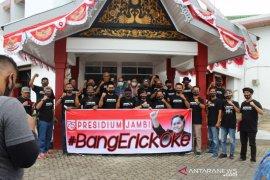 Sejumlah aktifis  menyampaikan  dukungan kepada pegawai BUMN di Jambi