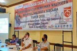 KPU Sibolga sosialisasi tahapan lanjutan Pilkada kepada awak media