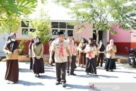 Pramuka Gorontalo Utara bakti sosial dan berbagi masker