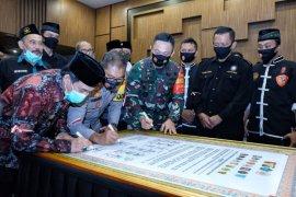 Belasan perguruan silat di Sidoarjo teken deklarasi damai jelang Pilkada