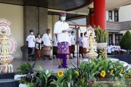 Badung terapkan protokol kesehatan saat upacara peringatan HUT Bali