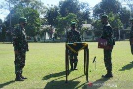 Danrem 133 Gorontalo sambut purna tugas Satgas Pamtas Yonif/713