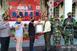 Bupati Bangka, Mulkan terima piagam penghargaan Kodam II Sriwijaya