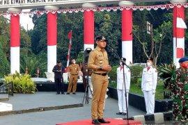 Upacara bendera peringati HUT ke-75 RI digelar secara virtual di Balai kota Bogor