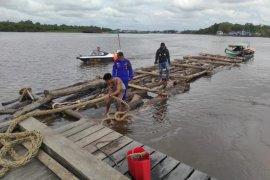 Polair Polda Kalbar sita 1.000 batang kayu log ilegal