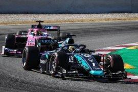 Cedera, Sean Gelael mengakhiri balapan di Catalunya lebih cepat