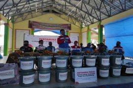 Pertamina bantu warga terdampak erupsi Gunung Sinabung