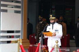 Bupati inspektur upacara HUT RI ke-75  di Kabupaten Banjar