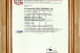 Krakatau Steel Raih Sertifikat 37001:2016 Sistem Manajemen Anti Penyuapan