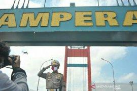 Jembatan Ampera Palembang ditutup saat detik-detik proklamasi