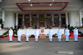 Tim Sabang bersiap kibarkan Bendera Merah Putih di Istana Merdeka