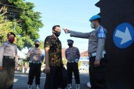 Polresta Kediri sanksi anggota tidak disiplin pakai masker