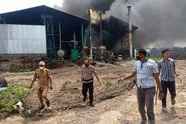 Gudang pengeringan triplek di Muarojambi hangus terbakar saat pekerja sedang beristirahat, staf boiler dimintai keterangan