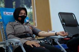 Sambut HUT Polwan, Polres Aceh Utara gelar donor darah