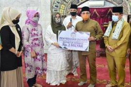 Terima donasi Rp2 miliar, Gubernur Sumut ajak masyarakat rampungkan pembangunan Masjid Agung