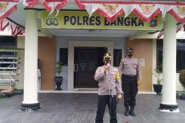 Kapolres Bangka gelar razia penggunaan masker