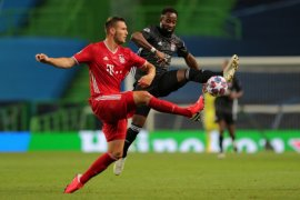 Harga saham Lyon melorot lagi setelah dikalahkan Bayern