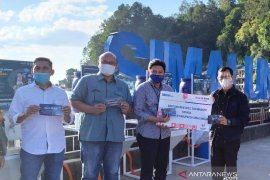Bantuan masker dan wastafel BTN untuk pemulihan wisata Danau Toba