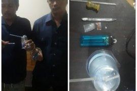 Polsek Selesai tangkap dua pemakai sabu-sabu