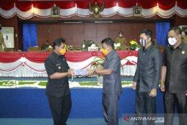 Bupati Belitung sampaikan raperda APBD perubahan tahun 2020