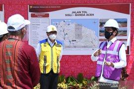 Presiden sebut pembebasan lahan jalan tol di Aceh paling cepat, telah capai 84 persen