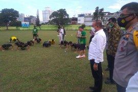 Gubernur Sumut motivasi para pemain PSMS Medan