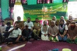 Pengelola bank sampah Desa Padangin ikuti sosialisasi perkoperasian