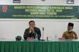 Dandim : Keluarga besar TNI jadi panutan penerapan protokol kesehatan