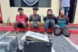 Ditreskrimum Polda Malut  tangkap komplotan pembobol brankas di Ternate