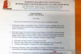 Layanan IGD RSUD Nagan Raya Aceh setelah dua dokter positif corona