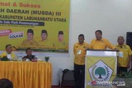Selama Labura berdiri, bupati terpilih dan Ketua DPRD dari Golkar