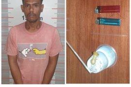 Polsek Pangkalan Susu Langkat tangkap pemilik sabu-sabu