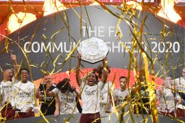 Arsenal rebut trofi Community Shield usai kalahkan Liverpool