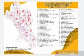 Sebaran zona merah COVID-19 di Kota Bogor semakin meningkat