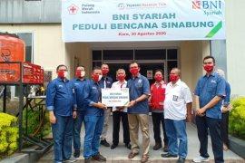 BNI Syariah Medan bantu sembako bagi warga terdampak erupsi Sinabung