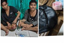 Dua pelaku penjembretan di Titi Penceng Stabat Langkat diamankan warga