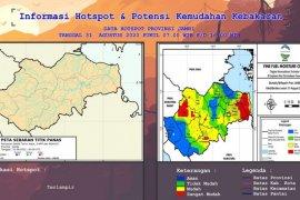 Peta Hotspot dan Kemudahan Kebakaran lahan di Jambi