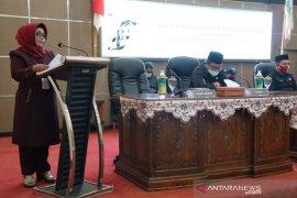 Lima Fraksi di DPRD setujui dan sah kan perubahan APBD TA 2020 menjadi Perda