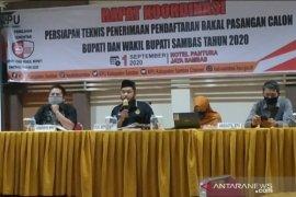 KPU Sambas : Pencalonan bapaslon tidak gugur meski positif COVID-19