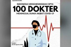 Presiden Jokowi belasungkawa atas meninggalnya 100 tenaga medis
